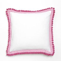 Pink Pom Pom Pillow
