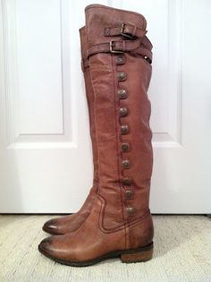 whiskey leather boots