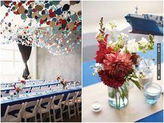 LOVE the polka dot garlands at this nautical chic wedding! | CHECK OUT MORE IDEAS AT WEDDINGPINS.NET | #weddings #uniqueweddingideas #unique