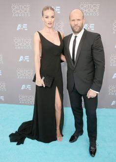 Rosie Huntington-Whiteley y Jason Statham Critics' Choice Awards 2016