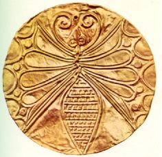 """One of more than 700 gold roundels from the """"Women's Grave"""" at Mycenae"""