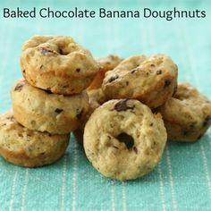 Baked Chocolate Banana Doughnuts