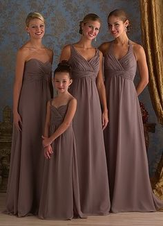 Mismatched brown bridesmaid dresses. This is a great look for fall ...