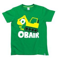 'O is for Obair' Kids Alphabet T-Shirt by Hairy Baby Alphabet For Kids, Irish, Tees, Mens Tops, Baby, T Shirt, Fashion, Supreme T Shirt, Moda