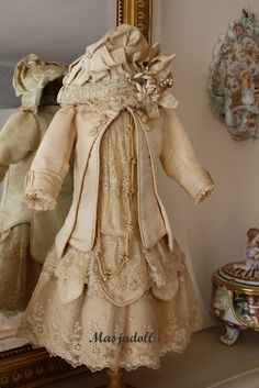 Silk couture doll dress