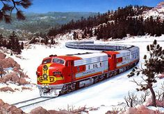 Santa Fe Super Chief at Raton Pass NM