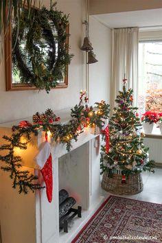 schouw van karton   kerstdecoratie   werkbeschrijving   guirlande   kerstboom   diy