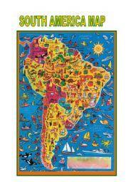 English teaching worksheets: South America
