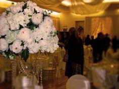 January Wedding Show 2014 White Flower centre piece