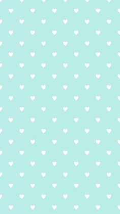 Mint green mini hearts bg
