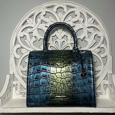 Brahmin Caroline Satchel Maritime Celtica Leather Green Teal 749034341047 | eBay Blue Tones, Teal Blue, Blue Green, Brahmin Handbags, Brahmin Bags, Green Colors, Dust Bag, Dior, Satchel
