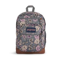 """All the great features of Jansport Big Student, plus a sleeve for a 15 inch"""" laptop and synthetic leather base & trim. Extra large capacity. Water bottle pocket. Premium details and fabrics Big Backpacks, School Backpacks, Jansport Backpack, Laptop Backpack, Handbags For School, S Curves, Student Fashion, Vera Bradley Backpack, Look Cool"""