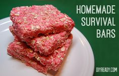 Homemade Survival Bars - Easy DIY survival bars are great for camping, hiking, quick snacks and emergency preparedness. Taste great, super long shelf life. DIY Ready