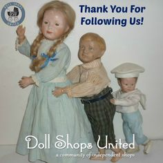 We appreciate our followers at Doll Shops United. Please find us on: Facebook ~ https://www.facebook.com/dollshopsunited  Twitter ~  https://twitter.com/Dollshopsunited  Pinterest ~ https://www.pinterest.com/dollshopsunited/ #dollshopsunited #dolls