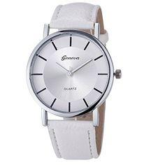 D.B.MOOD Women Retro Dial Leather Analog Quartz Wrist Watch-White