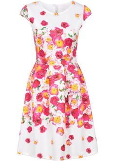 Šaty v neoprenovém vzhledu, BODYFLIRT boutique, bílá