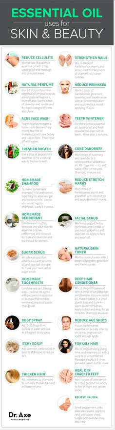 Essential oils, health and beauty