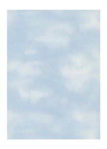 prepasted clouds wall covering