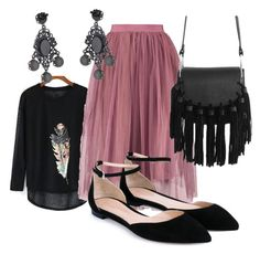 """Tulle skirt"" by francisca-cienfuegos on Polyvore featuring moda, Gianvito Rossi y Bottega Veneta"