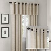 Found it at Wayfair - Anderson Silk Texture Grommet Panel and Valance Set in Cream