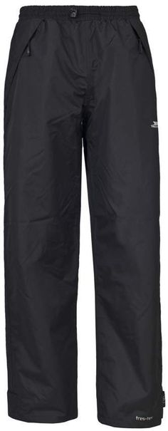 Trespass Ladies Waterproof Lined Trousers Elasticated Waist Tutula Walking Trousers, Adjustable Legs, Outdoor Outfit, Simple Style, Parachute Pants, Leather Pants, Jackets, Clothes, Black