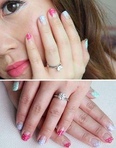 Very cute  frilly polka dot nails by Bubzbeauty