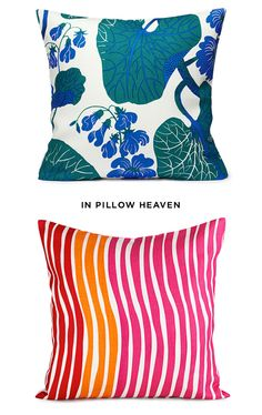 Easiest way to brighten up and change a space.....throw pillows