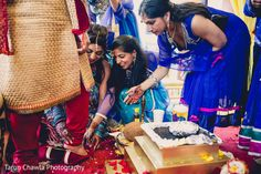Indian wedding ceremony ritual. http://www.maharaniweddings.com/gallery/photo/94133