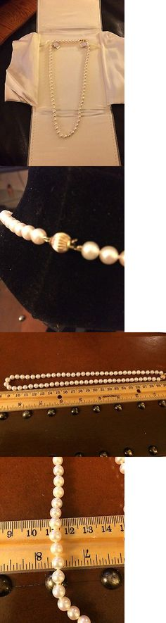 Pearl 164333: New High End Cultured Pearl Strand Hand Knotted Silk 6-7 Mm 14K Clasp 17 -> BUY IT NOW ONLY: $499 on eBay!