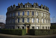 I have been meaning to get a picture of this great building on Nithsdale dr for ages. Scotland History, Glasgow, Multi Story Building, Europe, Mansions, Architecture, House Styles, February, Pictures