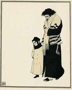 """""""В художнике Э.-М. Лилиене, сыне бедного ортодоксального еврея, резчика по дереву из Дрогобыча, я впервые встретил еврея Восточной Европы и тем самым еврейство,…"""