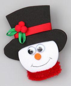 Black Top Hat Snowman Clip