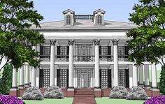 Classic Greek Revival with Video Tour - 44055TD | Plantation, Southern, Traditional, Luxury, Metric, 2nd Floor Master Suite, Butler Walk-in Pantry, CAD Available, MBR Sitting Area, PDF, Wrap Around Porch | Architectural Designs