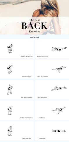 Top 10 Back Exercises For Posture, Tone & Strength – Body Workout Fitness Workouts, Sport Fitness, Body Fitness, Fitness Motivation, Health Fitness, Workout Tips, Fitness Hacks, Fitness Foods, Fitness Shirts