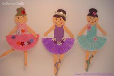 60 Simple, Affordable Yet Fun DIY Cupcake Liner Crafts - Birthday Cupcake Ideen Ballet Crafts, Dance Crafts, Ballerina Birthday Parties, Ballerina Party, Cool Diy, Fun Diy, Toddler Crafts, Preschool Crafts, Cupcake Liner Crafts
