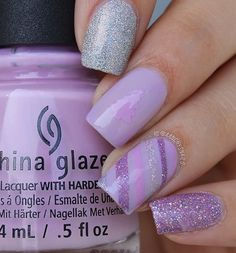 Pretty purple manicure by @aanchysnails using our Gift Wrap Nail Stencils & Christmas Tree Nail Vinyls found at snailvinyls.com