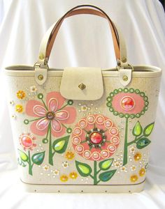 Vintage Enid Collins of Texas Les Fleurs Beaded Handbag WITH FREE SHIPPING on Etsy, $125.00