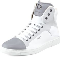 White High Top Sneakers by Salvatore Ferragamo. Buy for $595 from Neiman Marcus