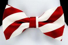 New Red & White Mens Bow Tie Adjust College Frat Tuxedo Wedding Fashion Bowtie #TiesJustForYou #BowTie