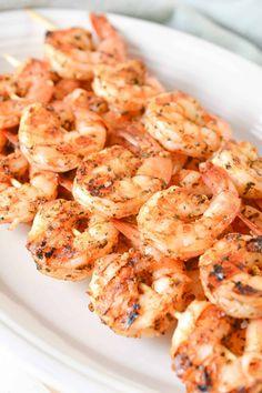 Grilled Garlic Herb Shrimp Best Shrimp Recipes, Lobster Recipes, Fish Recipes, Seafood Recipes, Appetizer Recipes, New Recipes, Vegetarian Recipes, Dinner Recipes, Favorite Recipes