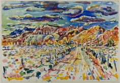 Ranch Wyoming - Ivan Albright  1946  Magic Realism  (This is beautiful!!)  Wikipaintings