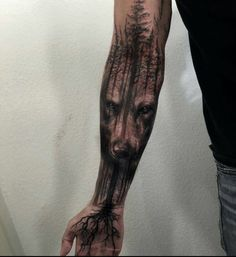 using the art of photographers as reference, double exposure tattoos transpose on skin the surreal effects of the double exposure photography.