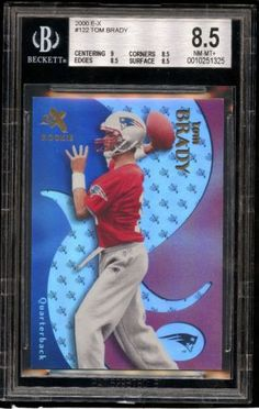 2000 E-X #122 Tom Brady Rc Rookie #'ed 645/1500 BGS 8.5