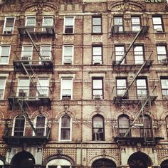 """This is the building that was the 1975 cover shot of Led Zeppelin's """"Physical Graffiti""""as it looks today. Located at 96-98 St. Marks Place,East Village."""