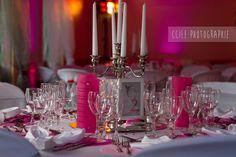 Mariage thème rose pâle et rose fuchsia avec une note de gris.