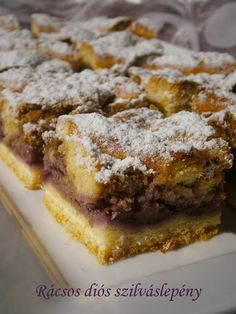 Hankka: Rácsos diós szilváslepény Poppy Cake, Banana Bread, French Toast, Sweets, Breakfast, Recipes, Crafting, Food, Gastronomia