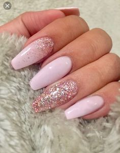 Light Pink Coffin Nails With Rose Gold Glitter . Light Pink Coffin Nails With Rose Gold Glitter . Light pink coffin nails with rose gold glitter coffin nails rose gold - Coffin Nails Pink Nail Designs, Pretty Nail Designs, Simple Nail Designs, Acrylic Nail Designs, Nails Design, Pink Design, Baby Design, Light Pink Acrylic Nails, Cute Acrylic Nails