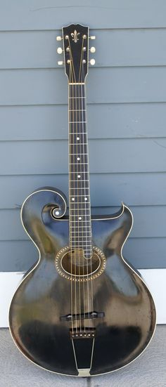 BEST Antique Original 1913 Gibson Model 'O' Artist Archtop Guitar Mandolin Style