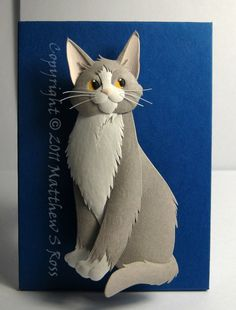 Cat paper sculpture!she looks just like my cat,kiki!