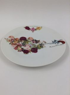 For my Valentines | I decorated this plate with ceramic decals.